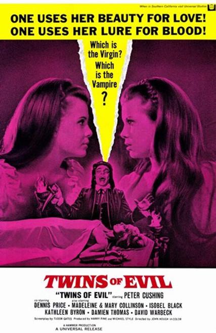 Twins of Evil Movie Poster (11 x 17) - Item # MOV232611