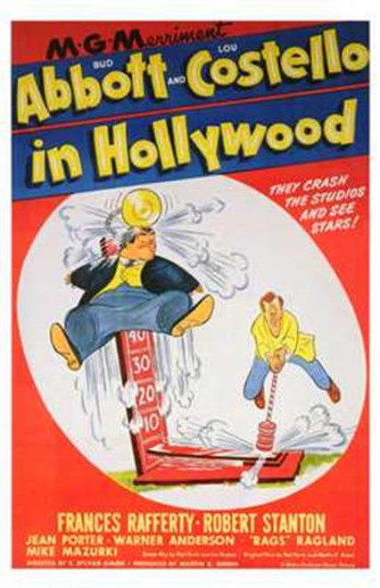 Abbott and Costello in Hollywood, c.1945 Movie Poster (11 x 17) - Item # MOV196767