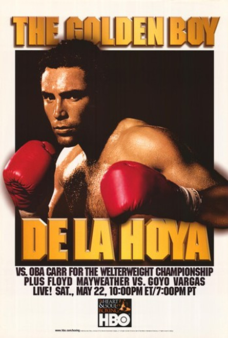 De La Hoya Vs. Oba Carr Movie Poster (11 x 17) - Item # MOV300312