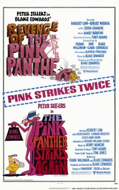 Pink Panther Strikes AgainRevenge of The Pink Panther Movie Poster (11 x 17) - Item # MOVEE5415