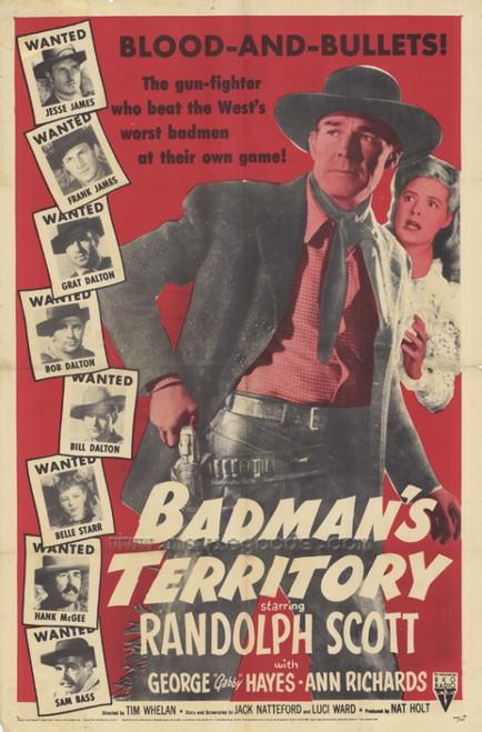 Badman's Territory Movie Poster (11 x 17) - Item # MOVAF4615