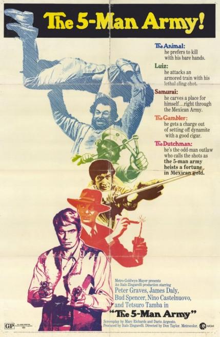 The Five Man Army Movie Poster (11 x 17) - Item # MOVIE6072