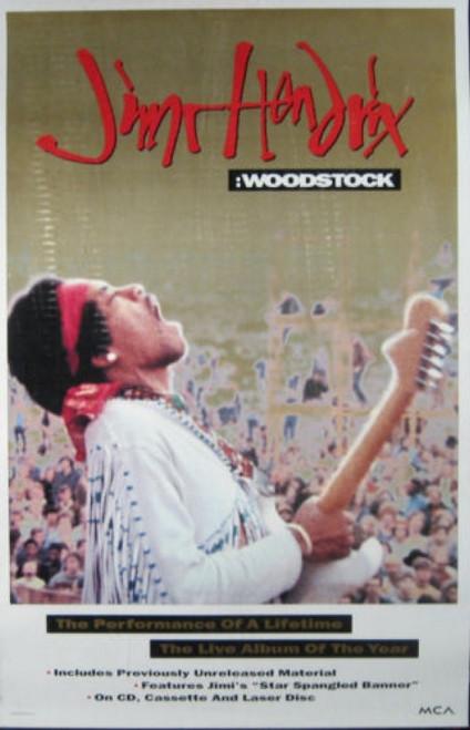 Jimi Hendrix Woodstock Performance of a Lifetime Poster - Item # RAR99914696