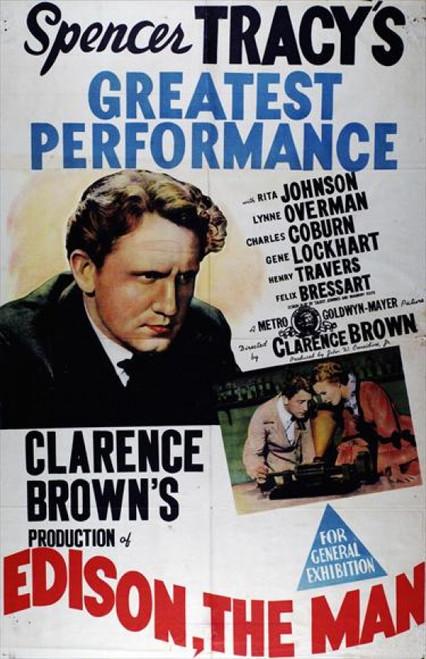 Edison, the Man Movie Poster (11 x 17) - Item # MOVAJ5137