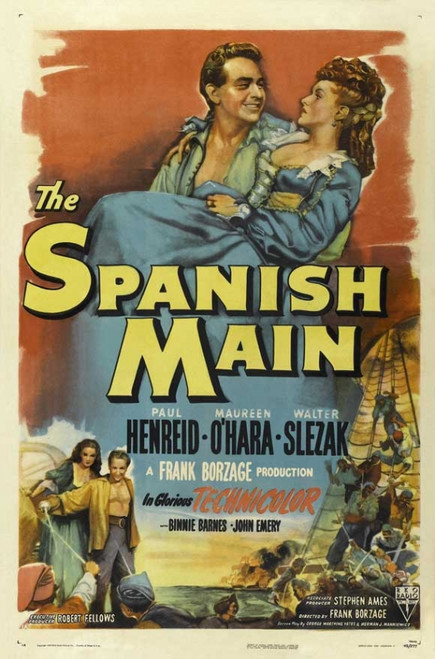 The Spanish Main Movie Poster (11 x 17) - Item # MOVCJ7165