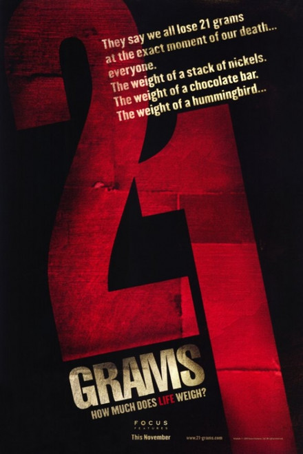 21 Grams Movie Poster (11 x 17) - Item # MOVGD5808