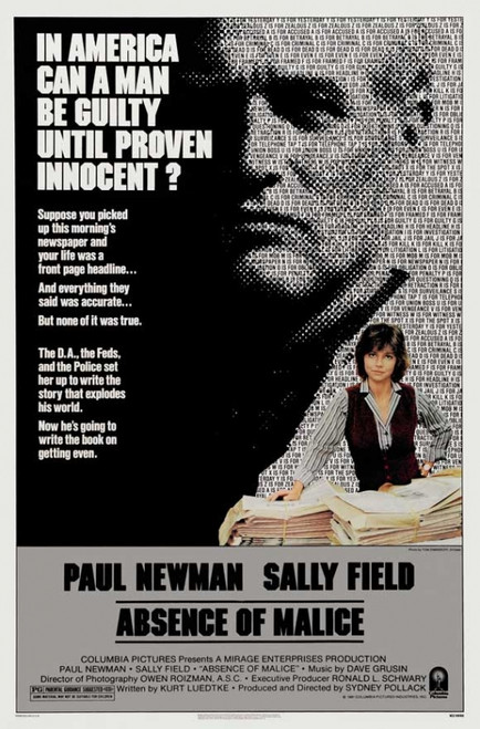 Absence of Malice Movie Poster Print (27 x 40) - Item # MOVCI6705