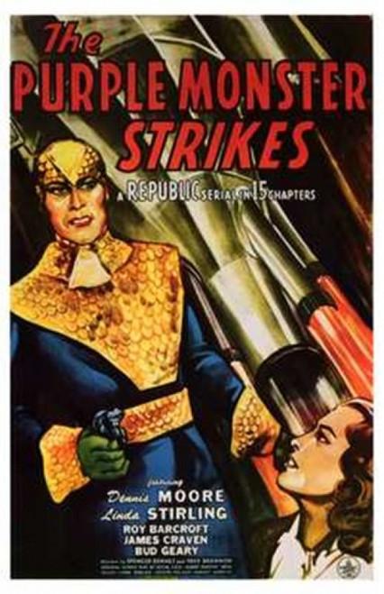 The Purple Monster Strikes Movie Poster (11 x 17) - Item # MOV200699