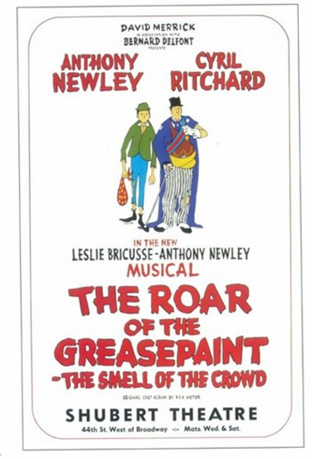 The (Broadway) Roar Of The Greasepaint Smell Of The Crowd Movie Poster (11 x 17) - Item # MOV407780