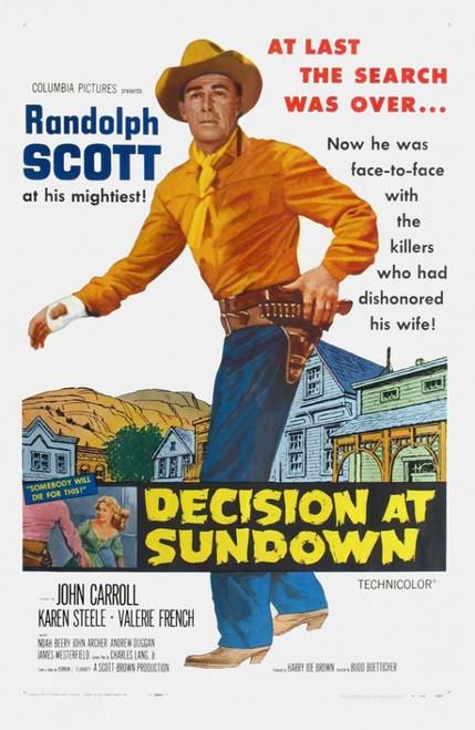 Decision At Sundown Movie Poster Print (27 x 40) - Item # MOVII2744