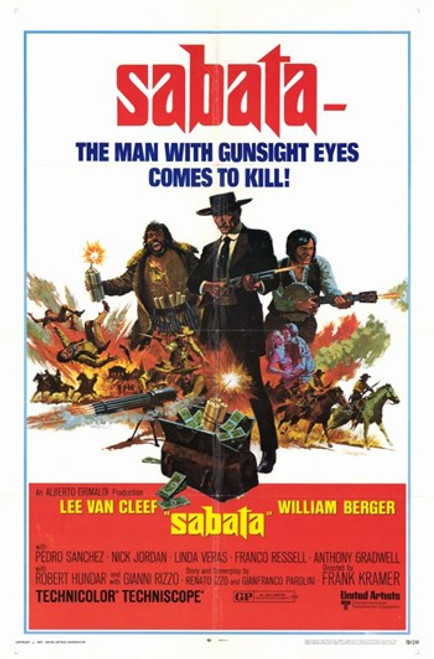 Sabata Movie Poster (11 x 17) - Item # MOV193328