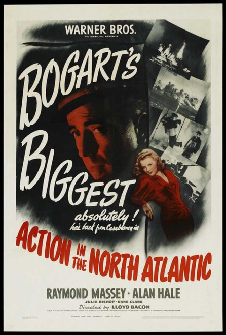Action in the North Atlantic Movie Poster Print (27 x 40) - Item # MOVGJ1162