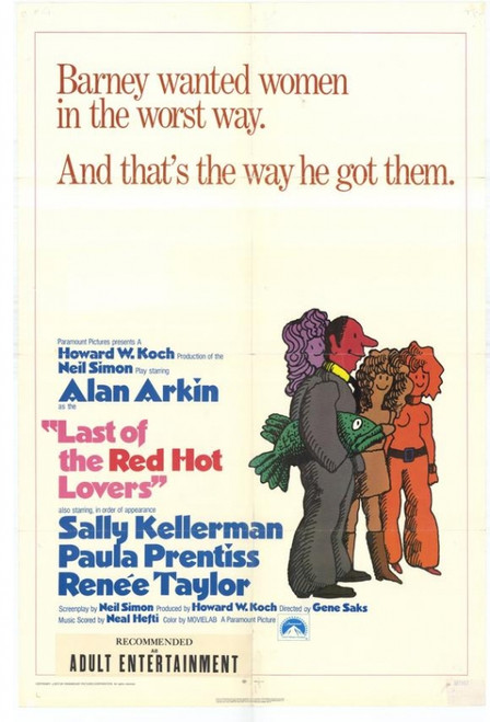 Last of the Red Hot Lovers Movie Poster Print (27 x 40) - Item # MOVEH5347