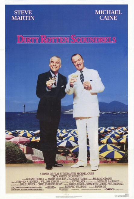 Dirty Rotten Scoundrels Movie Poster Print (27 x 40) - Item # MOVIF5957