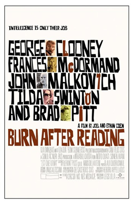 Burn After Reading Movie Poster (11 x 17) - Item # MOV417424