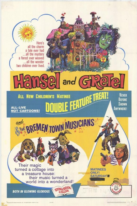 Hansel and Gretel / Bremen Town Musicians Movie Poster Print (27 x 40) - Item # MOVEH3721