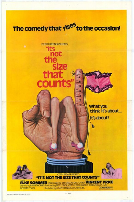 It's Not the Size That Counts Movie Poster Print (27 x 40) - Item # MOVEH9602