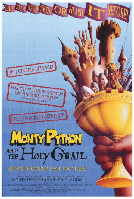 Monty Python and the Holy Grail Movie Poster Print (27 x 40) - Item # MOVIF8391