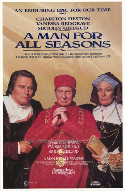 A Man For All Seasons Movie Poster Print (27 x 40) - Item # MOVIH8276