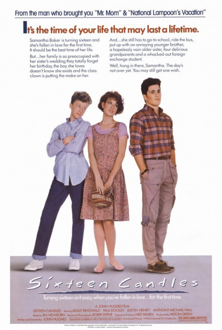 Sixteen Candles Movie Poster Print (27 x 40) - Item # MOVAF3204