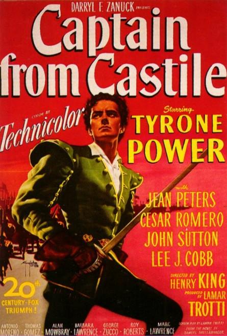Captain from Castile Movie Poster Print (27 x 40) - Item # MOVCF2303