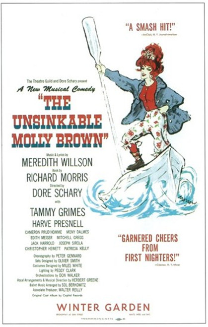 The (Broadway) Unsinkable Molly Brown Movie Poster (11 x 17) - Item # MOV407240