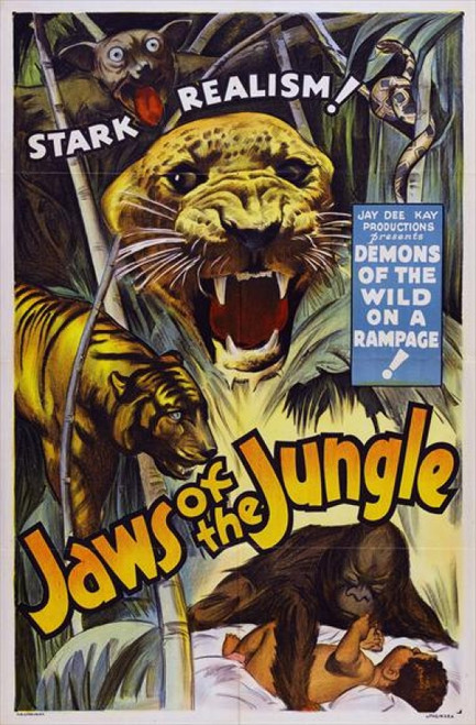 Jaws of the Jungle Movie Poster Print (27 x 40) - Item # MOVEJ7124