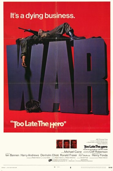 Too Late the Hero Movie Poster (11 x 17) - Item # MOV193333