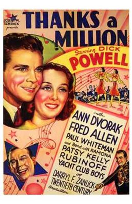 Thanks a Million Movie Poster (11 x 17) - Item # MOV197047