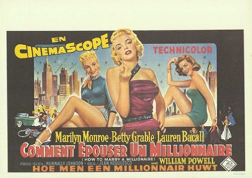 How to Marry a Millionaire Movie Poster (17 x 11) - Item # MOV412570