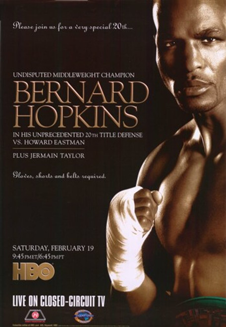 Bernard Hopkins vs Howard Eastman Movie Poster (11 x 17) - Item # MOV274126