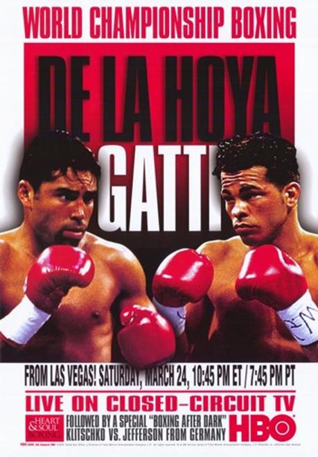 Oscar De La Hoya vs Arturo Gatti Movie Poster (11 x 17) - Item # MOV274151