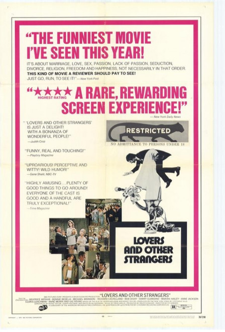 Lovers and Other Strangers Movie Poster Print (27 x 40) - Item # MOVCH9727