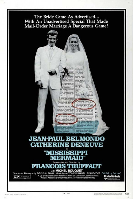 Mississippi Mermaid Movie Poster Print (27 x 40) - Item # MOVEJ3270