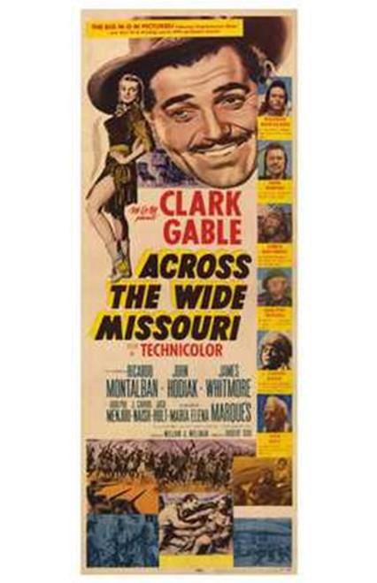 Across the Wide Missouri Movie Poster (11 x 17) - Item # MOV196121
