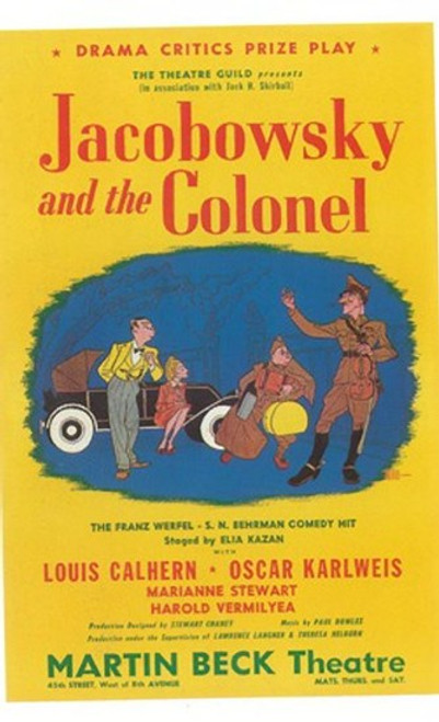 Jacobowsky And The Colonel (Broadway) Movie Poster (11 x 17) - Item # MOV407337