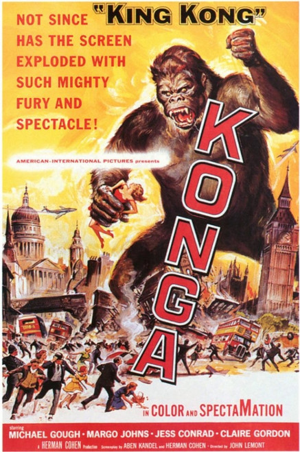 Konga Movie Poster (11 x 17) - Item # MOVID2987