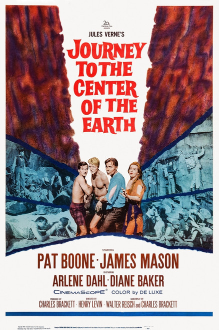 Journey To The Center Of The Earth Movie Poster Masterprint (11 x 17) - Item # EVCMCDJOTOFE003