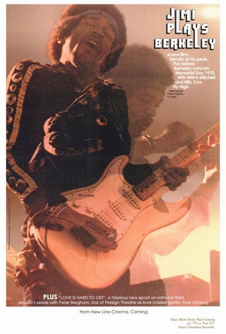 Jimi Plays Berkeley Movie Poster Print (27 x 40) - Item # MOVCF5188
