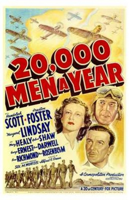 20 000 Men a Year Movie Poster (11 x 17) - Item # MOV174250