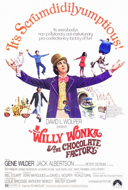Willy Wonka & the Chocolate Factory Movie Poster Print (27 x 40) - Item # MOVIF5188