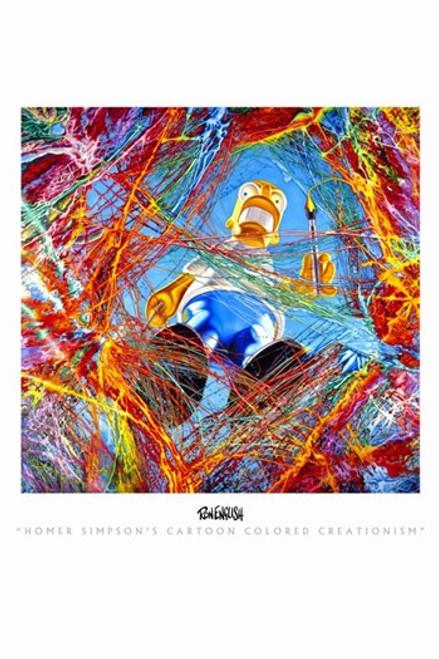 Homer Simpson's Cartoon Colored Creationism Movie Poster (11 x 17) - Item # MOV310312