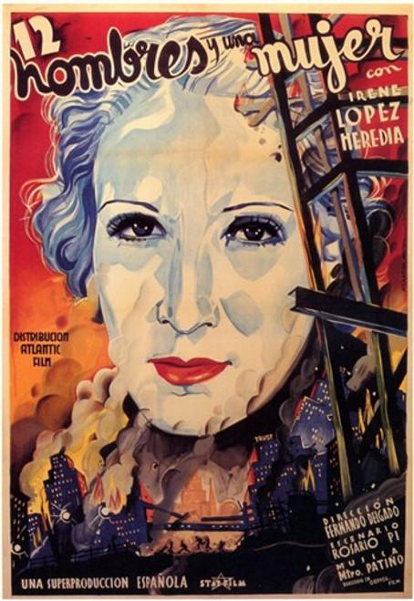 Doce Hombres y Una Mujer Movie Poster (11 x 17) - Item # MOV206723