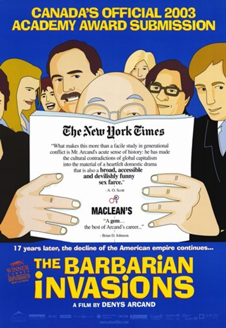 The Barbarian Invasions Movie Poster (11 x 17) - Item # MOV257913