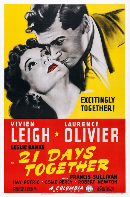 21 Days Together Us Poster Art From Left: Vivien Leigh Laurence Olivier 1940 Movie Poster Masterprint - Item # VAREVCMCDTWONEC190H