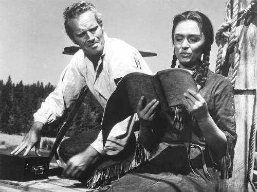 The Far Horizons From Left: Charlton Heston Donna Reed 1955 Photo Print - Item # VAREVCMBDFAHOEC059H