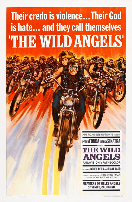The Wild Angels Us Poster Art Front: Peter Fonda Nancy Sinatra 1966 Movie Poster Masterprint - Item # VAREVCMSDWIANEC005H