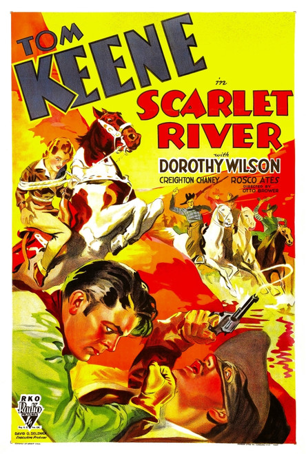 Scarlet River Bottom Left: Tom Keene 1933. Movie Poster Masterprint - Item # VAREVCMMDSCRIEC001H