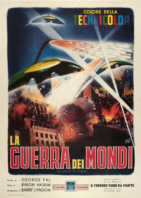 The War Of The Worlds Italian Poster Art 1953. Movie Poster Masterprint - Item # VAREVCMCDWAOFEC124H