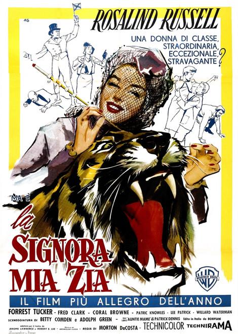 Auntie Mame Italian Poster Art Rosalind Russell 1958 Movie Poster Masterprint - Item # VAREVCMCDAUMAEC003H